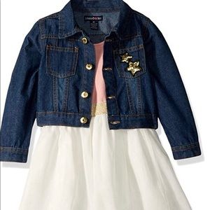 Limited Too size 2T dress and denim jacket combo